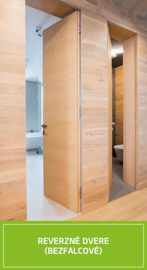 Reverzné bezfalcové interiérové dvere