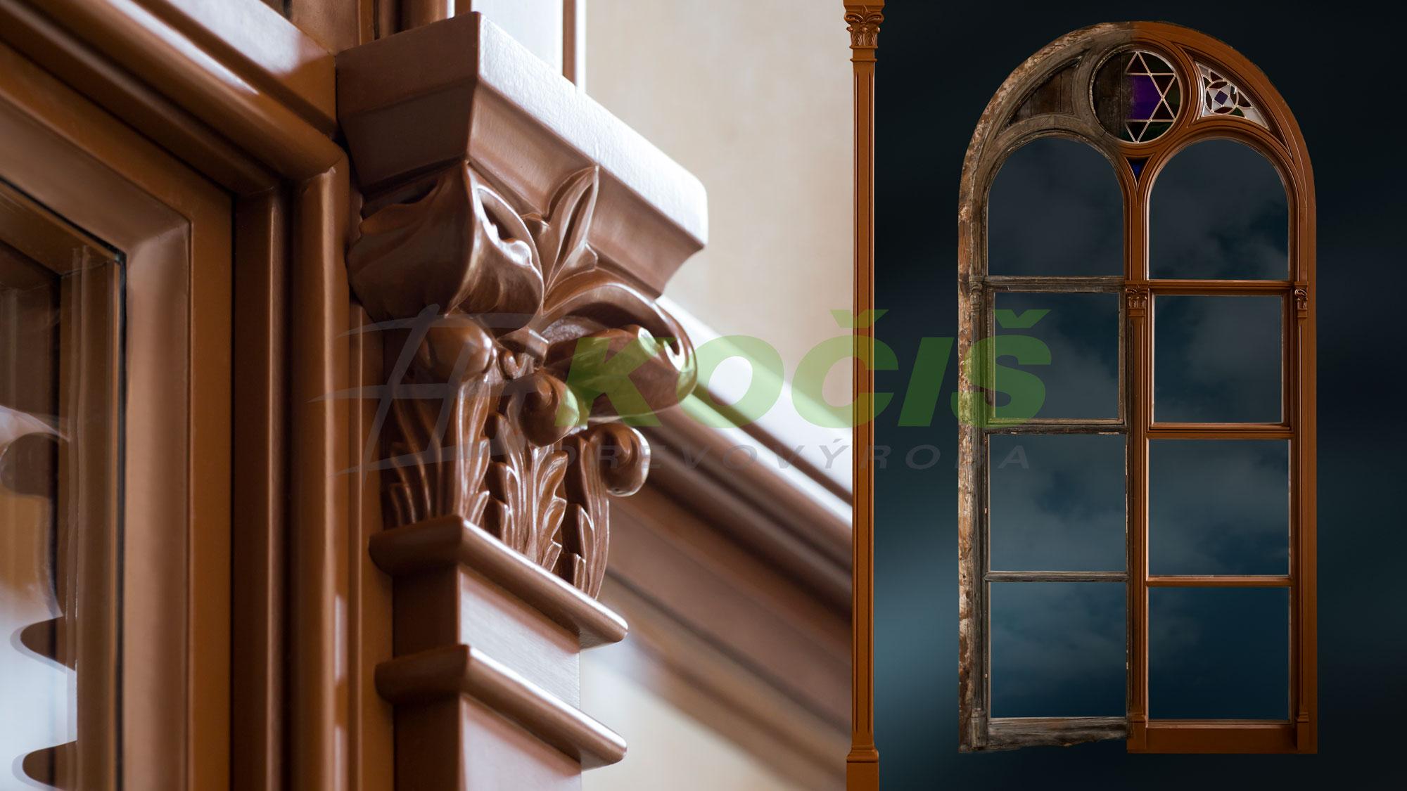 Drevené Rustikálne okná